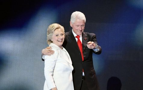 Hillary Clinton arm and arm with husband and former President Bill  Clinton.