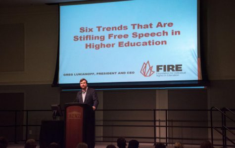 FIRE president speaks at UNCW about free speech in higher education
