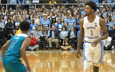 Seahawks fall to Tar Heels in McGrath homecoming