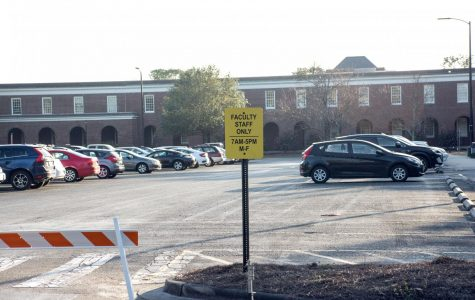 Staff, students displaced from parking due to construction