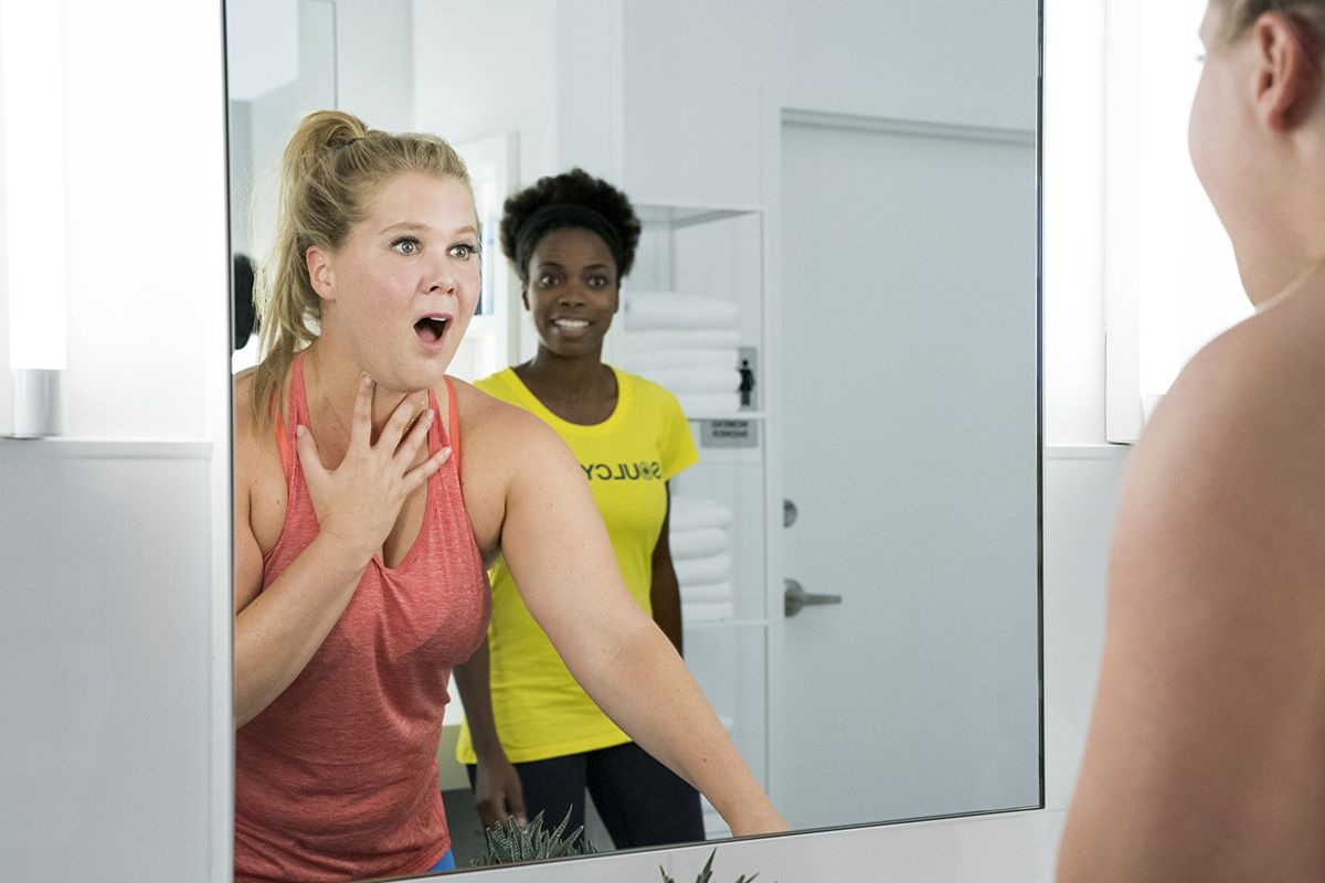 Amy Schumer admiring herself in the the controversial 2018 film
