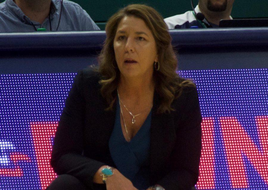 UNCW+women%27s+basketball+coach+Karen+Barefoot