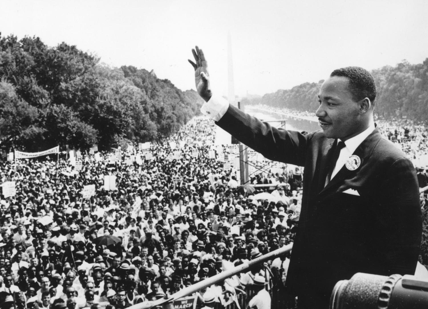 Dr. Martin Luther King, Jr., giving his famous
