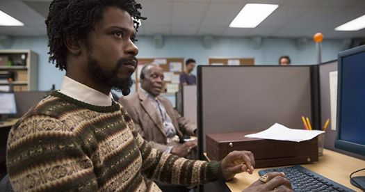 """Lakeith Stanfield, pictured left, and Danny Glover acting an example of """"code switching"""" in the 2018 film, """"Sorry To Bother You."""""""