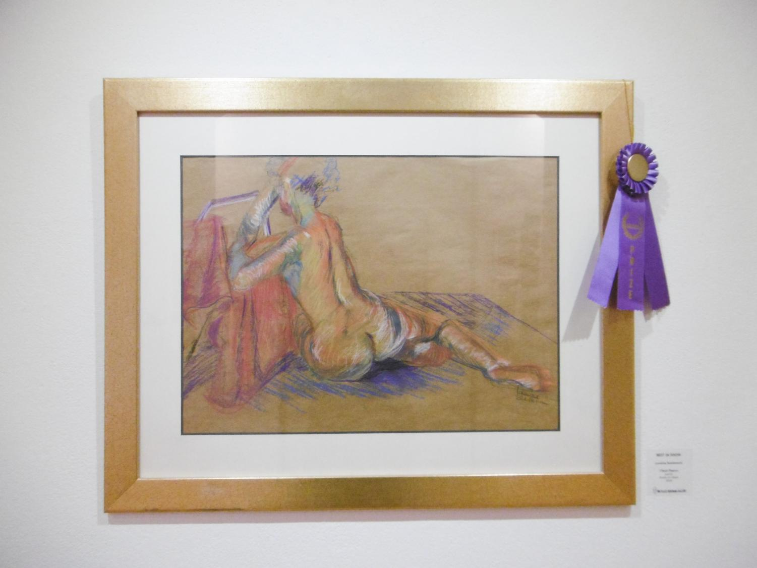 "Loraine Scalamoni's ""Classic Repose"" won Best In Show at the All Student Show on February 28, 2019."