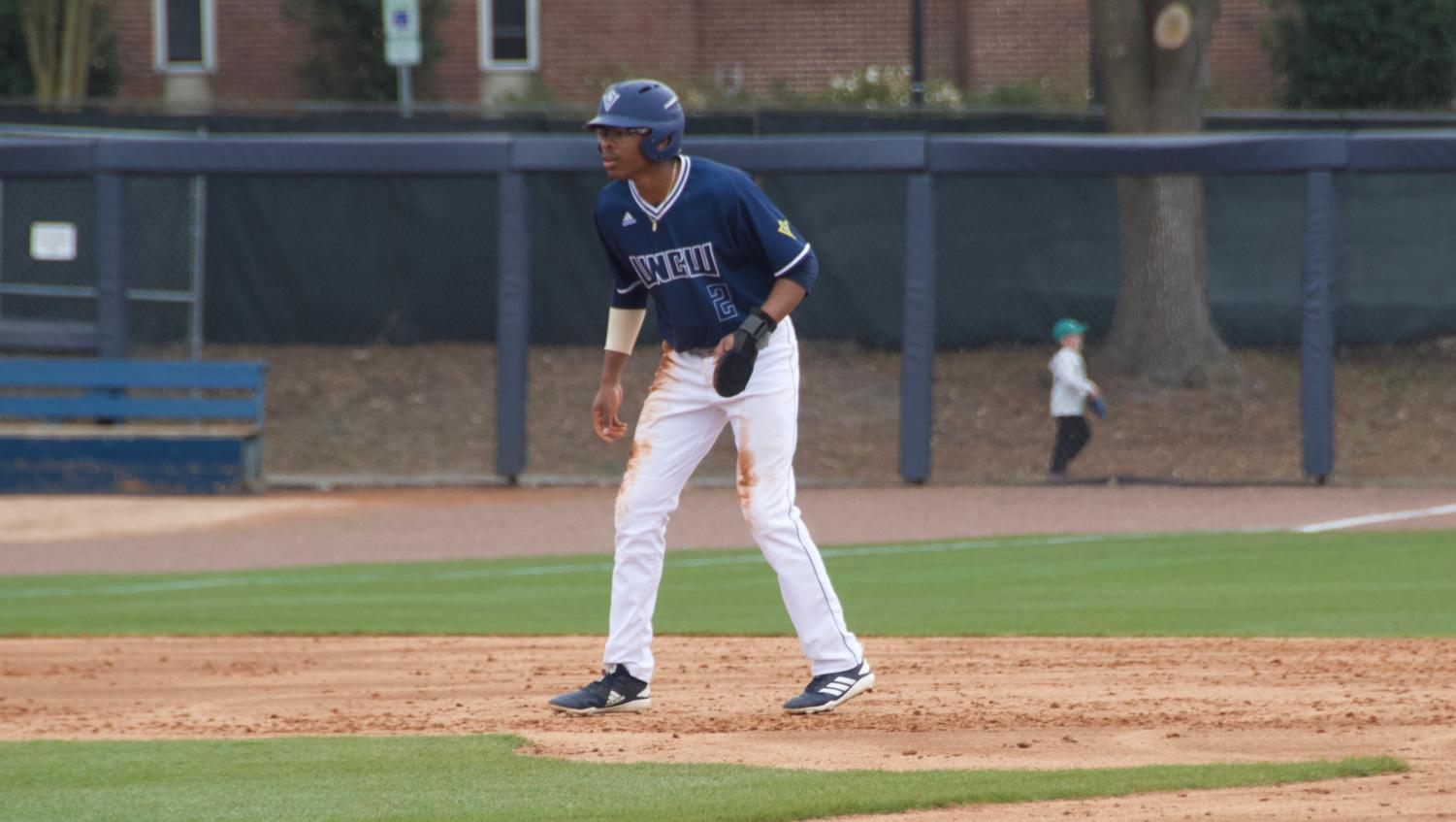 Greg Jones (2) during UNCW's matchup against Valparaiso at Brooks Field on March 3, 2019.
