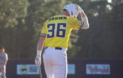 Kep Brown (36) during UNCW's matchup against Coastal Carolina at Brooks Field on March 26, 2019.