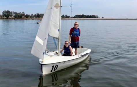 UNCW sailors Graham Shivers and Allie Howard