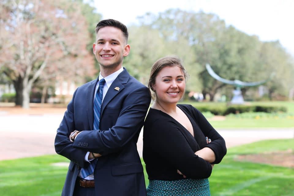 Nick Pianovich, left, and Rachel Cowaldo, right.