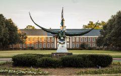 UNCW's famous Seahawk statue.