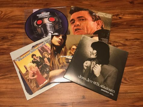 "From top left to right: ""The Guardians of the Galaxy"" soundtrack, Johnny Cash"