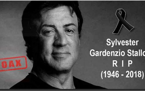 An often-used image that mourns the death of actor Sylvester Stallone – who is still alive today