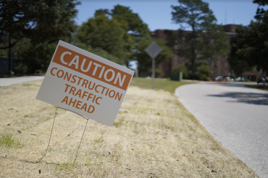 Construction+on+UNCW%27s+campus+as+of+August+28%2C+2019.