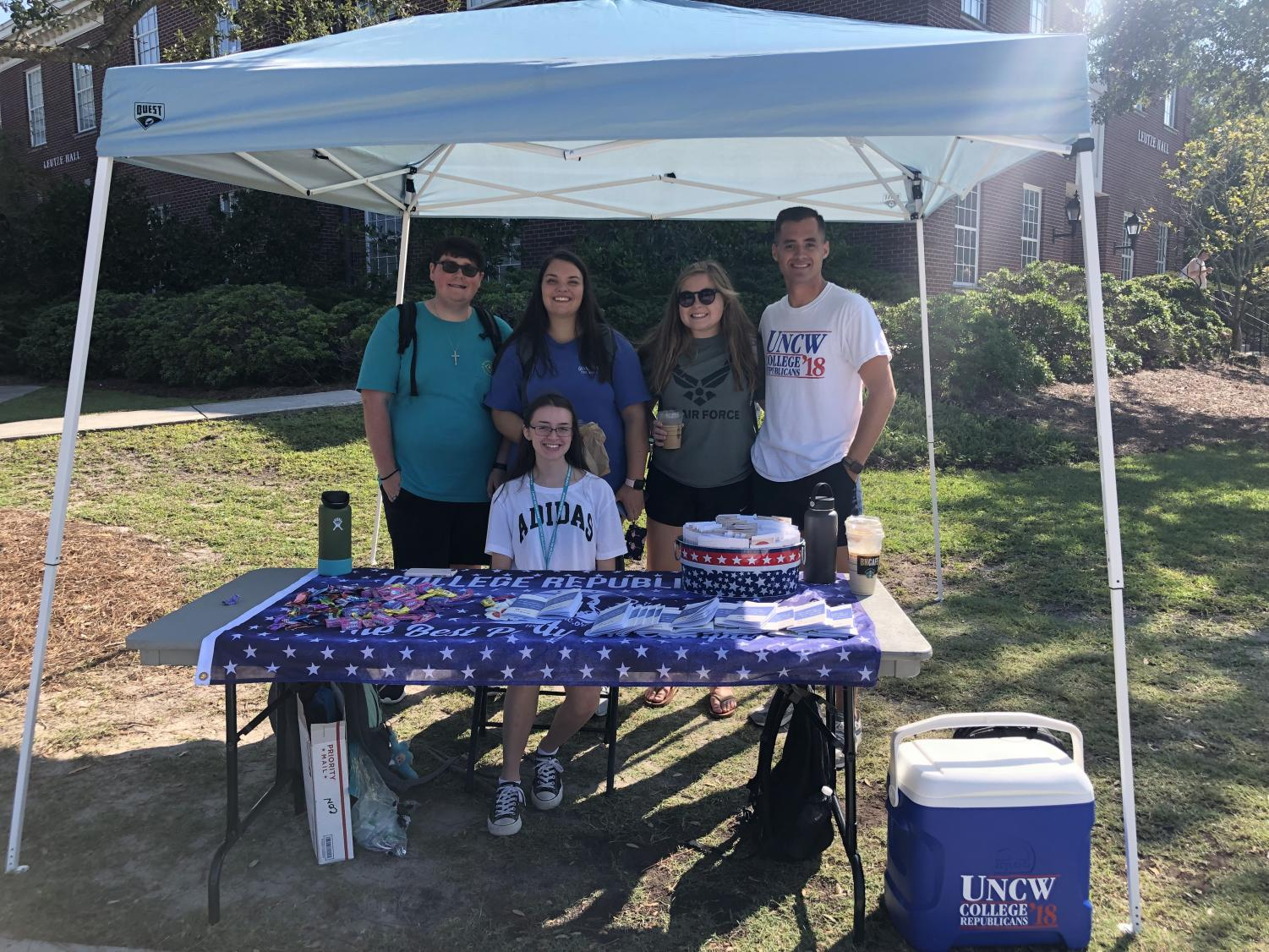 UNCW's College Republicans club with a table for Constitution Day on Sept. 17, 2019
