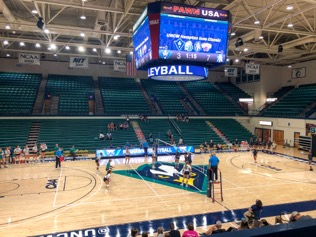 UNCW Volleyball takes on NC A&T on Saturday, Sep. 21, 2019.