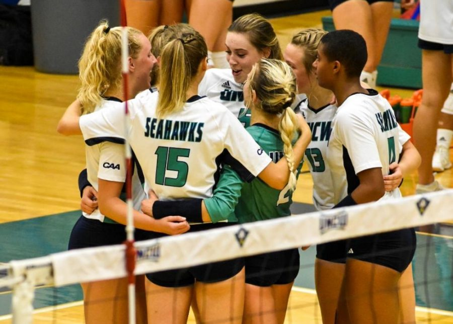 UNCW during its match against William & Mary on Oct. 4, 2019.