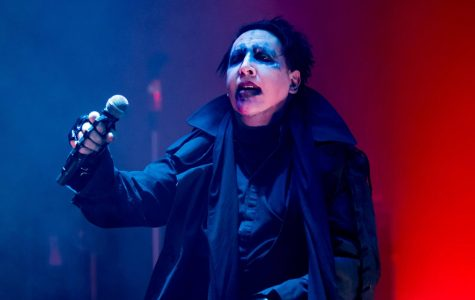 Singer Marilyn Manson performs at Wacken Open Air music festival on Aug. 5, 2017 in Germany. Marilyn Manson co-founder Scott Putesky, who left the band during the recording of their 1996 breakout album