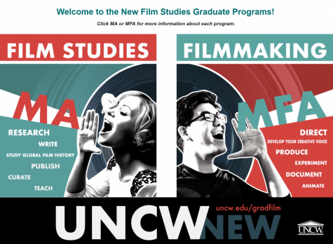 Screenshot of the Film Studies graduate website by Spencer Boring