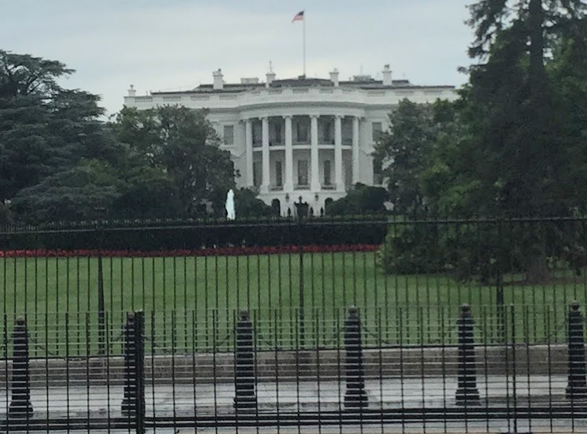 The White House fenced-off in Washington, D.C. on May 27, 2017