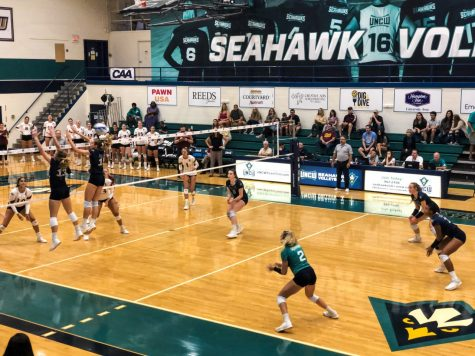 UNCW during its match against Elon on Oct. 6, 2019.