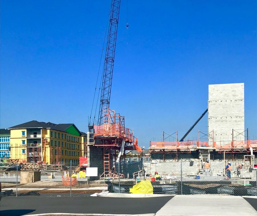 Construction of the new UNCW residence halls on Nov. 19, 2019