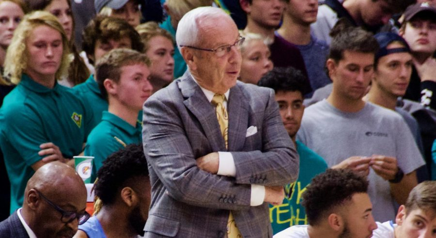 North Carolina head coach Roy Williams during UNCW