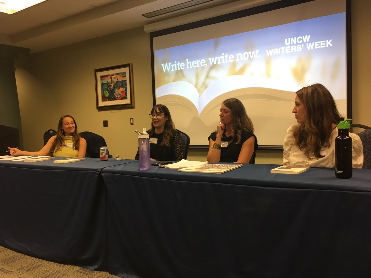 Writer's Week Publishing Panel participants, from left to right: Morgan Davis, Cameron Dezen Hammon, Emily Smith, and Beth Staples.