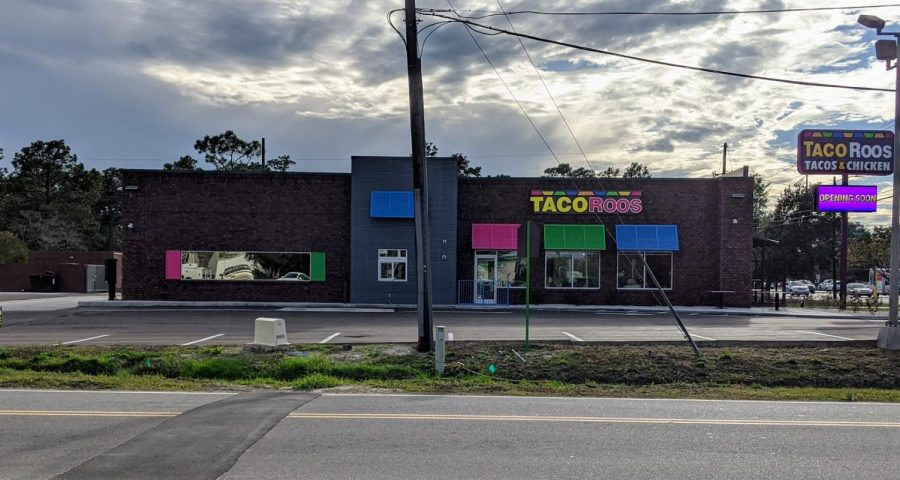 TacoRoos location at S College and College Acres, pictured as of 23 November 2019.