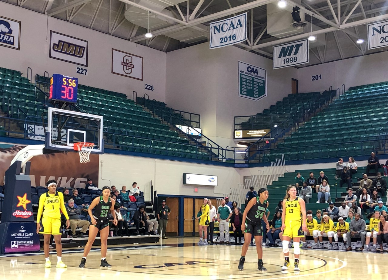 UNCW during its matchup with Mt. Olive on Nov. 20, 2019.