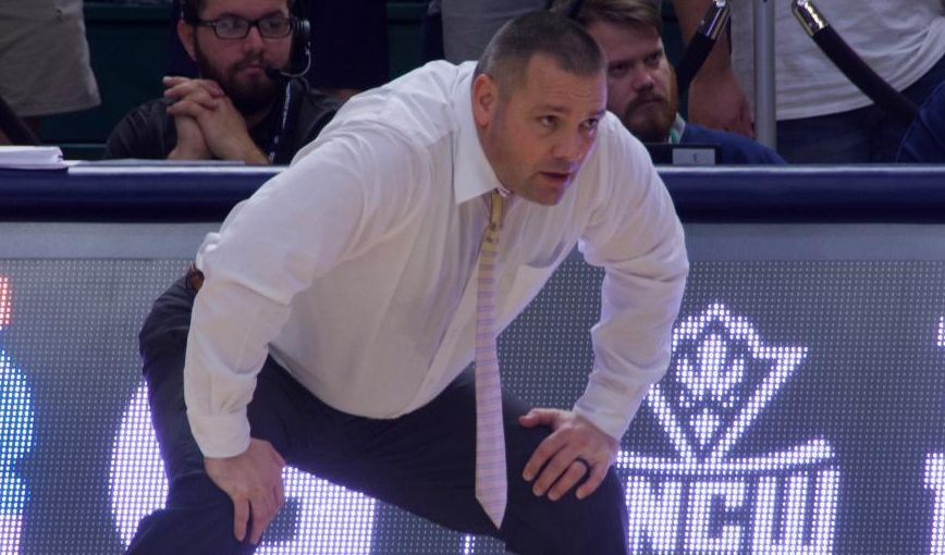 UNCW interim head coach Rob Burke during the Seahawks' matchup against Hofstra on Jan. 16, 2020.