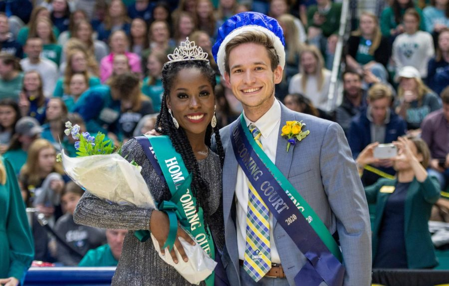 2020 Homecoming King and Queen Ricki Nelson (left) and Nick Pianovich (right). PHOTO COURTESY: JEFF JANOWSKI/UNCW