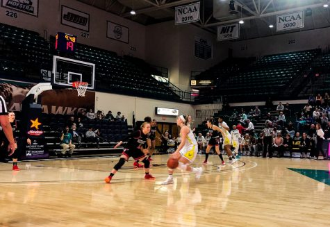 UNCW women's basketball against Northeastern on Feb. 28, 2020 at Trask Coliseum