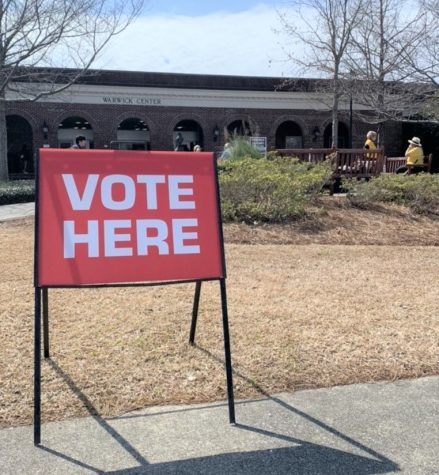 UNCW students and community members alike were able to vote in the Super Tuesday primaries at the Warwick Center polling location on March 3, 2020.