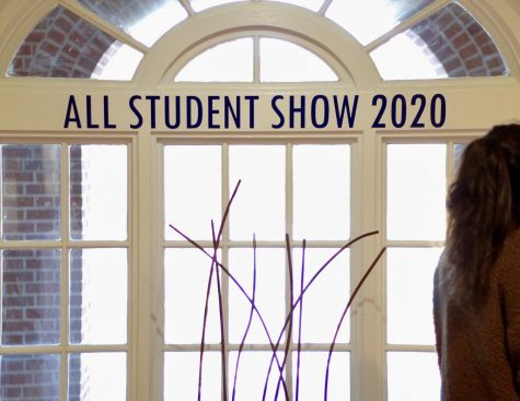 The annual All Student Show opened in the UNCW Boseman Gallery on Feb. 27, 2020. Photo by Lauren Wessell.