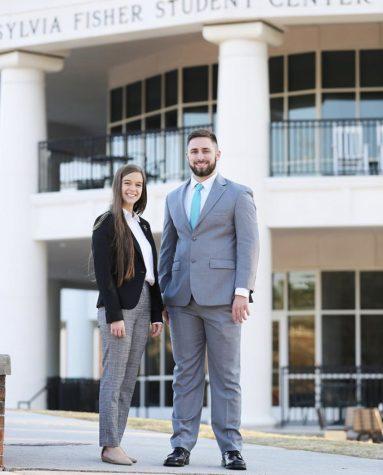 2020-2021 SGA VP Sabrina Balent and Preisdent Matt Talone.