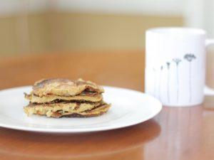 Fresh banana peanut butter pancakes. Photo by Lauren Wessell.