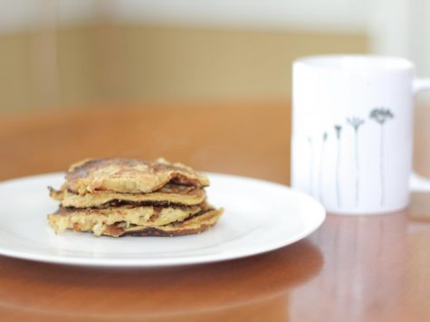 Fresh banana peanut butter pancakes. Photo by Lauren Wessell.