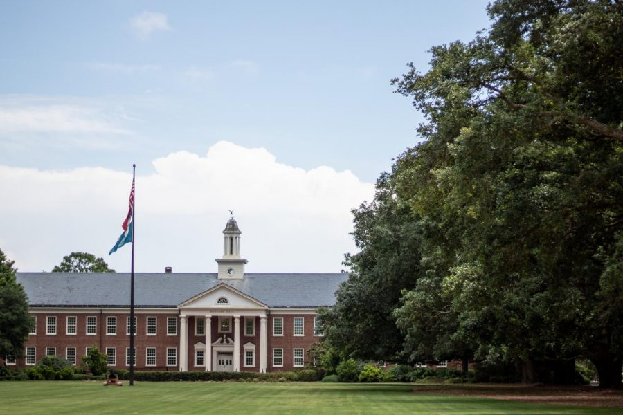 Front of UNCW's campus.