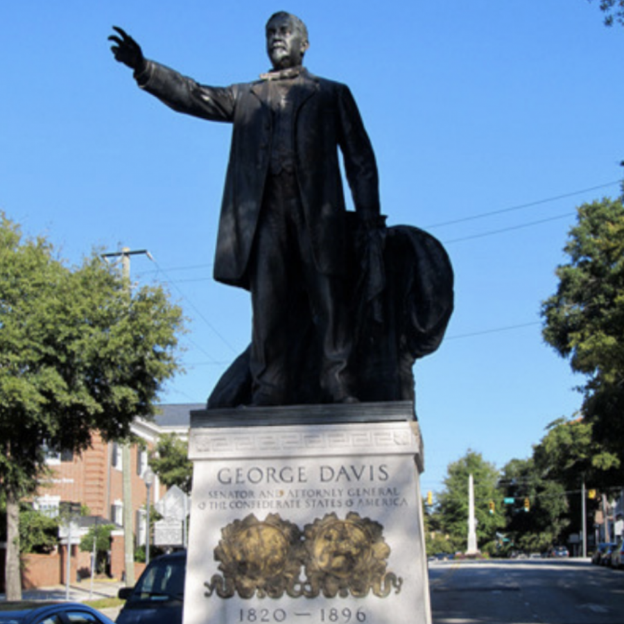 The George Davis Monument in Wilmington, NC, a tribute to the fourth Attorney General of the Confederate States