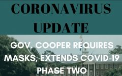 Coronavirus update: requires masks, extends COVID-19 phase two. Photo my Caitlyn Dark, graphic by Lauren Wessell.