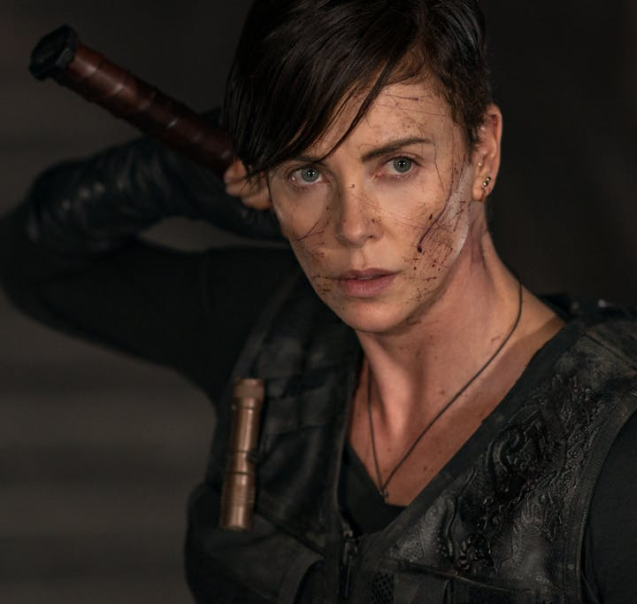 """Charlize Theron in """"The Old Guard."""""""