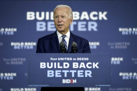 Democratic presidential candidate and former Vice President Joe Biden speaks about economic recovery during a campaign event at Colonial Early Education Program at the Colwyck Center on July 21, 2020 in New Castle, Delaware. (Drew Angerer/Getty Images/TNS)