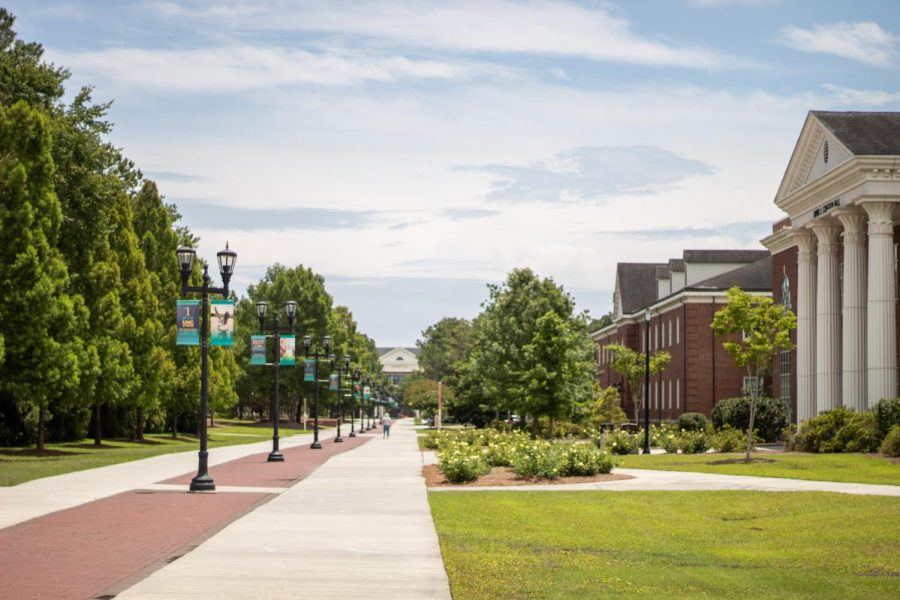 View of UNCW's Chancellor's Walk.