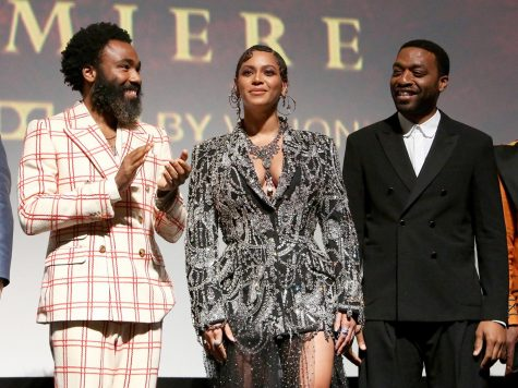 Beyonce, Donald Glover, and Chiwetel Ejiofor at the World Premiere of Disney's