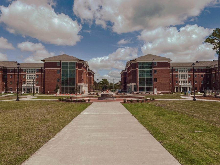 Pelican Hall and Sandpiper Hall are two of the four new housing options which opened fall 2020 at UNCW.