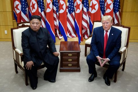 North Korean leader Kim Jong-un and U.S. president Donald Trump.