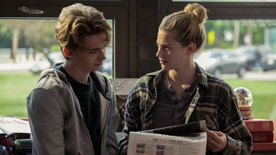 Lily Reinhart and Austin Abrams in