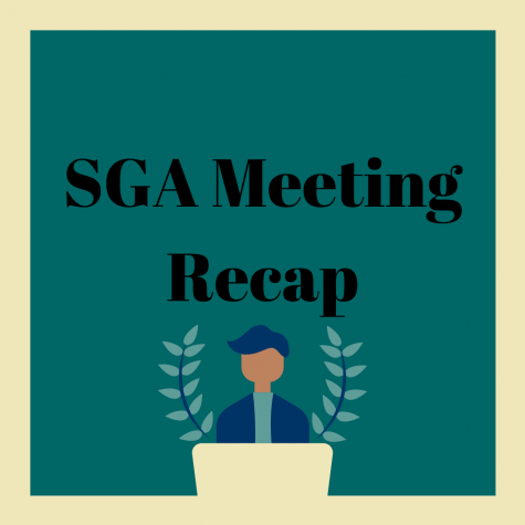 The Student Government Association (SGA) meets every Tuesday from 6:30 pm to 8 pm.