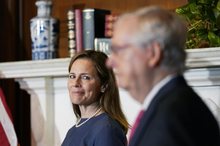 Amy Coney Barrett meets with Senate Majority Leader Mitch McConnell