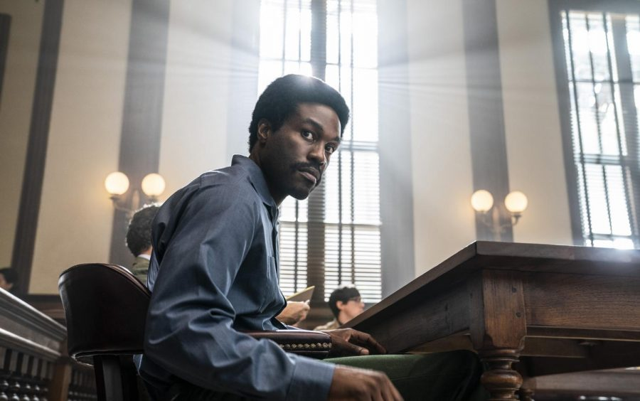 Yahya Abdul-Mateen II as Bobby Seale in Aaron Sorkin's